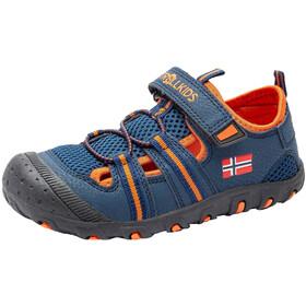 TROLLKIDS Sandefjord Sandały Dzieci, niebieski/pomarańczowy